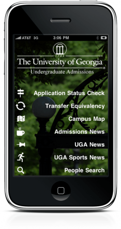 Admissions iPhone App - UGA Undergraduate Admissions